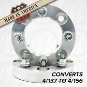 2 Pc. 4x137 To 4x156 Wheel Adapters/spacers 1 Thick For Kawasaki And Can-am Atv