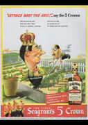 Seagrams 1943 Vintage Ad Repro A4 Canvas Giclee Art Print Poster 11.7x8.3