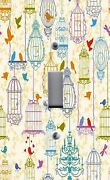 Light Switch Plate Outlet Covers Home Decor Colorful Bird Cages