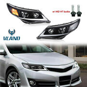 Drl Projector Front Lamp Headlights W/ Led For 2012-2014 Toyota Camry
