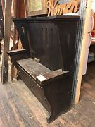 Antique Arts Craft Entry Way Bench Storage Bench Pine Or Fir Wood Architectural