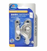 2x Zenith Sash Fasteners For Wooden Windows, 90x140x25mm Silver- Nickel Plated