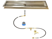 Lifetime Warranty 48″ T-burner And Diy Pre-plumbed Gas Fire Table Kit W/ 52x10 Pan