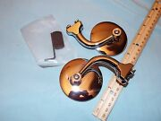 Pair 3 Curved Outside Door Peep Mirrors Hot Rod Ford Chevy Dodgerat Rod