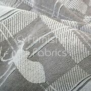 Soft Like Cotton Small Stag Pattern Upholstery Woven Fabric Grey White Colour