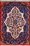 2and039 4 X 3and039 4 Esfahan Wool And Silk Authentic Hand Knotted Persian Rug