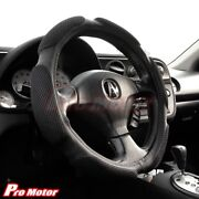 Black Steering Wheel Cover Protector Hand Pad Buffer Cushion Leather Slip-on P2