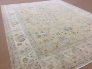 8and039.0 X 9and039.8 Mustard Beige Fine Oushak All Over Oriental Rug Hand Knotted Wool