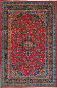 6and039 6 X 10and039 0 Mashad Wool Authentic Hand Knotted Persian Rug