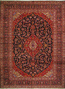 10and039 0 X 13and039 7 Kashan Kork Merino Wool Authentic Hand Knotted Persian Rug