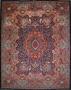 9and039 10 X 12and039 8 Kashmar Wool Authentic Hand Knotted Persian Rug