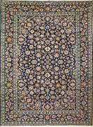 9and039 4 X 12and039 8 Kashan Wool Authentic Hand Knotted Persian Rug