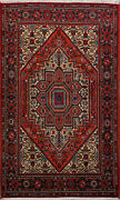 3and039 3 X 5and039 5 Bijar Wool Authentic Hand Knotted Persian Rug