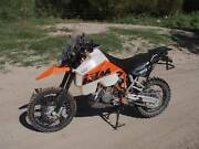 Ktm 950 R Super Enduro 2005 30l Safari Long Range Fuel Tank Petrol Gas Clear