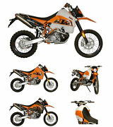 Ktm 950r Super Enduro 2008 30l Safari Long Range Fuel Tank Petrol Gas Orange