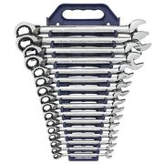 Gearwrench 9602 16 Piece Metric Reversible Offset Ratcheting Combo Wrench Set