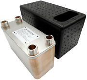 Stainless Steel Plate Heat Exchanger Nordic Tec 1'' 125-450kw + Insulation Box