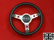 14 Vinyl Steering Wheel-red Stitching And Hub. Fits Triumph Spitfire 77-80