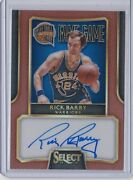 Rick Barry 2014-15 Select Fame Game Bronze Copper Parallel Autograph /49