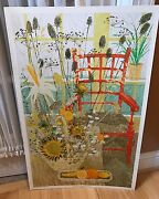 The Red Chair 1968 Collectable Poster Print By Kemeny 21 X 34 Beautiful And Big
