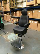 Compact Marine Chair And Pedestal - Helm Captains Pilot Boat Fishing Trawler Seat