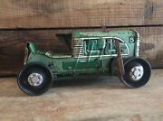 Vintage Marx Number 5 Tin Wind Up Green Farm Tractor