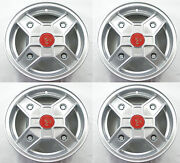 Fiat 500 Cromodora Cd30 Replica Rims Complete Set With Abarth Hub Caps And Bolts