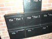 Flats Letterbox / Mailbox Identity Number - Stickers Decals - Choices - Styles