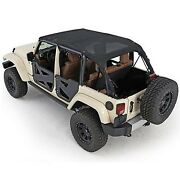 Bikini Version And039and039safariand039and039 Couleur Black Mesh Filet Jeep Wrangler Jk Unlimited