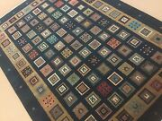 5'.7 X 7'.10 Multicolor Fine Modern Oriental Area Rug Hand Knotted Wool Foyer