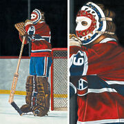15wx30h Ken Dryden By Kyle Williams -montreal Canadiens Habs Choices Of Canvas