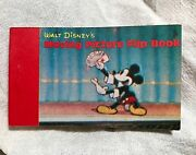 Vintage Disney Moving Picture Flip Book 2 Scenes Mickey Mouse Magic/donald Duck