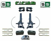 6 / 4 Spindle Block Lift Kit For 2004 - 2018 Nissan Titan 2wd W/cb Spacer