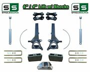 6 / 4 Spindle Lift Kit For 2004 - 2021 Nissan Titan 2wd W/ Cb Spacer Shocks