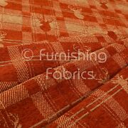 Soft Like Cotton Small Stag Pattern Upholstery Woven Fabric Orange Peach Colour