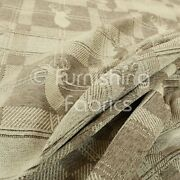 New Soft Like Cotton Small Stag Pattern Upholstery Woven Fabric Beige Colour