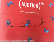Damien Hirst Double Signed Sothebys Red Catalogue. Hirst Bono Banksy