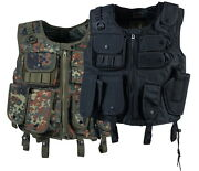 Tactical Vest With Holster Swat Black And Bw Camouflage M L Xl Xxl