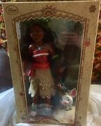 Disney Lot Of 2 Limited Edition Deluxe 17 Moana 1st And 2nd Edition Doll Nib