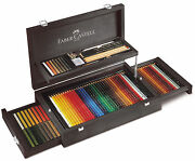 Art And Graphic Collection Wood Case Exclusive Set Faber Castell 110086