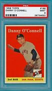 1958 Topps Danny O'connell – 166 Psa 9 Giants