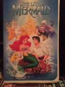 Vhs Tapes The Little Mermaid 1990 Black Diamond Banned Artjacket Excellant