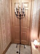 Antique Torchiere Forged Metal Candelabra Free Shipping