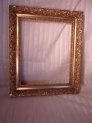 Antique Victorian Frame 21 1/4 X 25 Holds 16 1/4 X 20 Molding 3