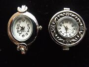 Watch Face Beading Bracelets Silver 2pc Round Square Oval Varied 22-35 Mm