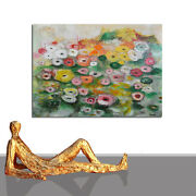 Flower Painting Large Abstract Roses Sea Water Interior Design Decor 40 X 55