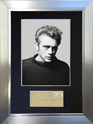 James Dean Mounted Signed Photo Reproduction Autograph Print A4 615