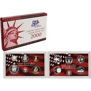 2000-s 90 Silver Proof Set United States Mint Original Government Packaging Box
