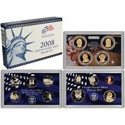 2008-s Proof Set United States Us Mint Original Government Packaging Box And Coa