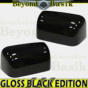 2008-2016 Ford F250 F350 F450 F550 Gloss Black Mirror Covers Top Half Towing